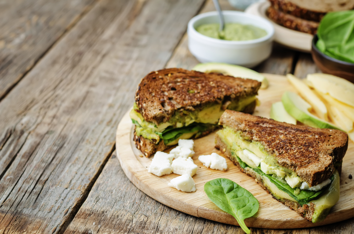 Feta & Spinach Grilled Cheese